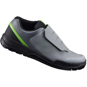 Shimano GR9 MTB Shoes - for Flat Pedals - Grey/Green