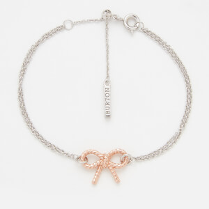 Olivia Burton Women's Vintage Bow Chain Bracelet - Rose Gold and Silver Mix