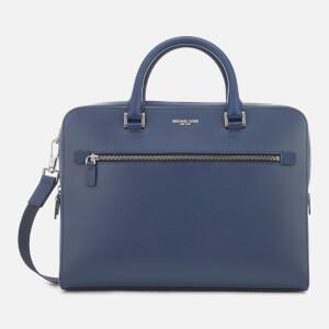 Michael Kors Men's Harrison Zipped Briefcase - Navy