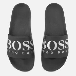 BOSS Green Men's Solar Slide Sandals - Black