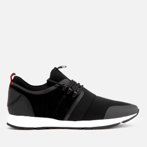 HUGO Men's Hybrid Running Style Trainers - Black