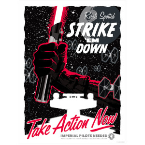"Serigrafía Star Wars ""Take Action Now"" - Brian Miller (46 cm x 61 cm)"