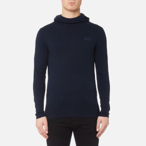 Superdry Men's Orange Label Knitted Hoody - Eclipse Navy Marl