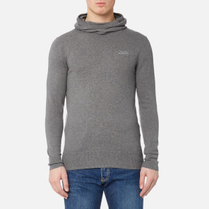 Superdry Men's Orange Label Knitted Hoody - Ashes
