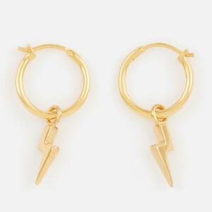 Missoma Women's Mini Lightning Charm Hoops - Gold