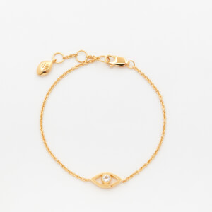 Missoma Women's Evil Eye White Topaz Bracelet - Gold