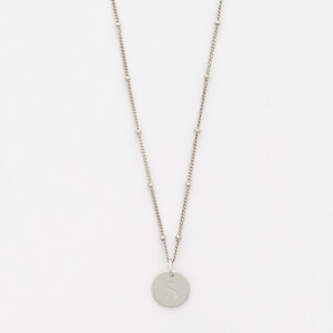 Missoma Women's Silver 'S' Initial Necklace - Silver