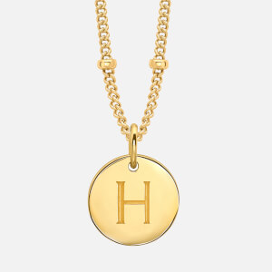Missoma Women's Gold 'H' Initial Necklace - Gold