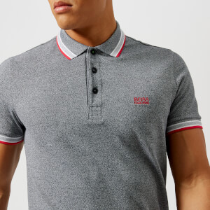 BOSS Green Men's Paddy Polo Shirt - Melange Grey