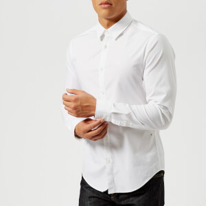 BOSS Green Men's Boldo Long Sleeve Shirt - White