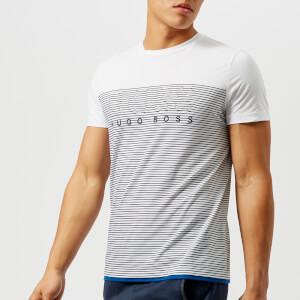 BOSS Green Men's Teep 1 Stripe T-Shirt - White