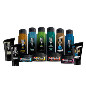Axe Hair shampooing Axe Just Clean + Axe styling