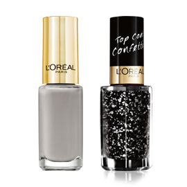 L'Oréal Paris Vernis Soft Chinchilla et Top Coat Confettis