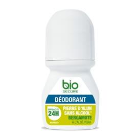 Bio Secure Déodorant pierre d'alun bergamote
