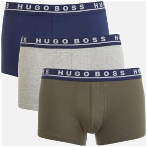 BOSS Hugo Boss Men's 3 Pack Trunk Boxers - Navy/Grey/Khaki
