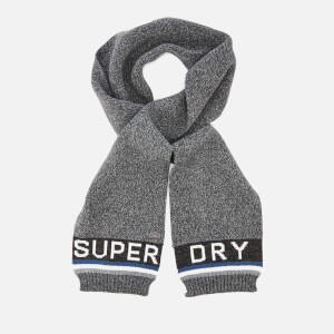 Superdry Men's Super S.D. Logo Scarf - Charcoal/Marine
