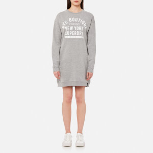 Superdry Women's Soho Sweatshirt Dress - Grey Marl