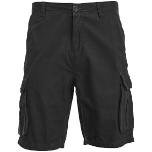 Brave Soul Men's Riverwood Cargo Shorts - Black