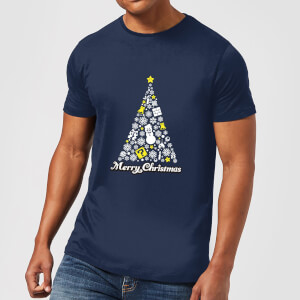 Nintendo® Weiß Christmas Happy Holidays T-Shirt - Blau