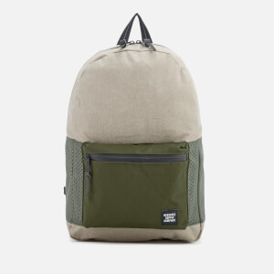 Herschel Supply Co. Men's Settlement Backpack - Light Khaki Crosshatch/Forest Night