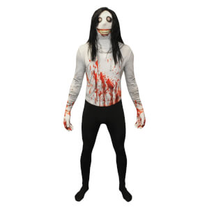 Morphsuit Adults' Jeff The Killer - Black/White