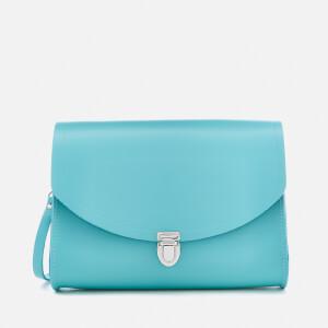 The Cambridge Satchel Company Women's Large Push Lock Bag - Neon Blue
