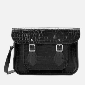 The Cambridge Satchel Company Women's 11 Inch Satchel - Black Patent Croc