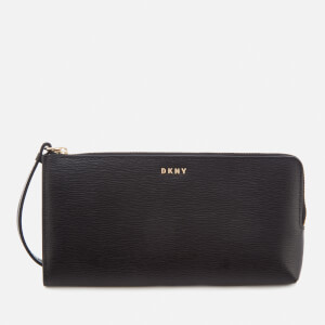 DKNY Women's Bryant Medium Wristlet Pouch Bag - Black