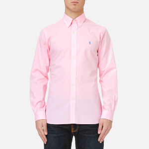 Polo Ralph Lauren Men's Slim Fit Poplin Shirt - Carmel Pink