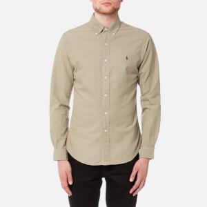 Polo Ralph Lauren Men's Slim Fit Garment Dye Shirt - Tan