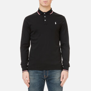 Polo Ralph Lauren Men's Long Sleeve Pima Tipped Polo Shirt - Black