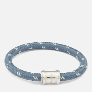 Miansai Men's Single Rope Casing Bracelet - Slate/Steel