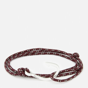 Miansai Men's Rope Bracelet with Silver Hook - Bordeaux