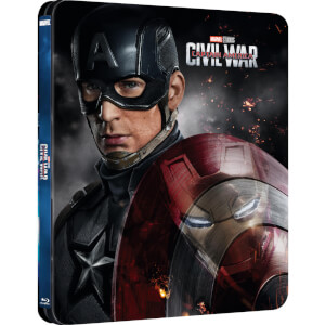 Captain America 3: Civil War 3D (Includes 2D Version) - Zavvi UK Exclusive Lenticular Edition Steelbook
