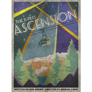 The X-Files Ascension Fine Art Print von Acme Archive Artist J.J. Lendl UK Exklusiv (Nur 100 Auflagen)
