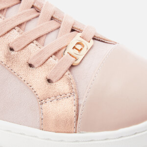 Dune Women's Egypt Leather Cupsole Trainers - Pink Metallic: Image 4