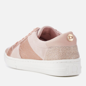 Dune Women's Egypt Leather Cupsole Trainers - Pink Metallic: Image 2