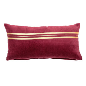 Bloomingville Rectangular Gold Detail Cushion - Red