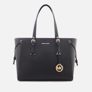 MICHAEL MICHAEL KORS Women's Voyager Medium Top Zip Tote Bag - Black