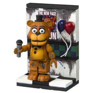 McFarlane Five Nights At Freddy's Party Wall With Withered Freddy Figure (Micro Set)