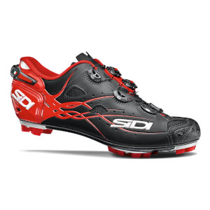 Sidi Tiger Matt Carbon MTB Cycling Shoes - Black/Red