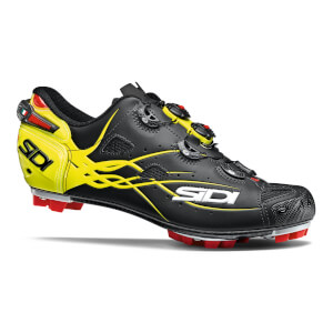Sidi Tiger Matt Carbon MTB Cycling Shoes - Black/Yellow Fluo