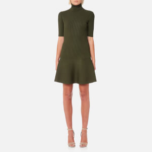MICHAEL MICHAEL KORS Women's Tank Rib Flare Dress - Ivy