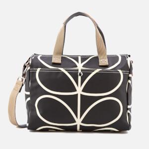 Orla Kiely Women's Giant Linear Stem Messenger Bag - Liquorice