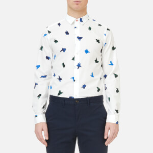 PS by Paul Smith Men's Slim Fit Long Sleeve Shirt - White