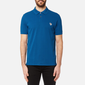 PS by Paul Smith Men's Regular Fit Short Sleeve Polo Shirt - Bright Blue
