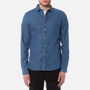PS by Paul Smith Men's Long Sleeve Denim Shirt - Blue