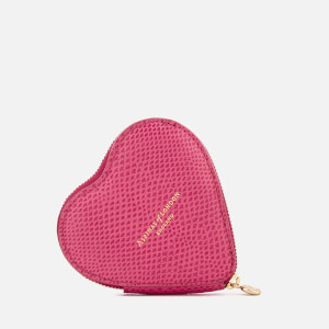 Aspinal of London Women's Heart Coin Purse - Raspberry (Free Gift)