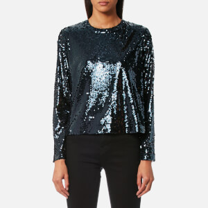 Samsoe & Samsoe Women's Johanne Sequin Top - Deep Well