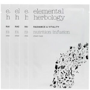 Elemental Herbology Nutrition Infusion Sheet Masks - 4x25 g